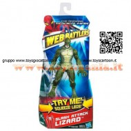 SUPEREROI Marvel The Avengers LIZARD WEB Battlers Hasbro