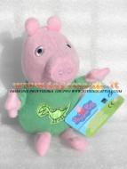 !!!! Peluche Peppa Pig !!!! PUPAZZO PELUCHE PEPPA PIG PERSONAGGIO IL FRATELLO GEORGE VESTITO DA DINOSAURO SUO PELUCHE ALTEZZA CIRCA 33 CM COD 345/152 toys , BRINQUEDOS ,JUGUETES , JOUETS , giocattoli