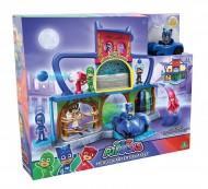 Super Pigiamini PJ Masks Playset Quartier Generale, incluso Gattoboy e Gattomobile di Giochi Preziosi  PJM06001