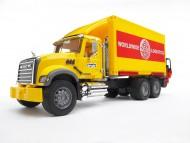 Bruder Bruder MACK camion portacontainer con muletto trasporto logistico [cod 02819]fuori produzione ultimo pezzo