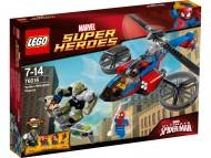 LEGO 76016 - Super Heroes Spiderman con elicottero di salvataggio