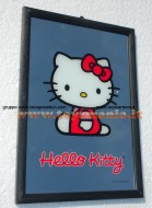 Specchio di hello kitty seduta adatto come decoro circa 30x20