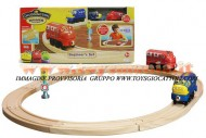 Chuggington TRENINO : PISTA CON 2 LOCOMOTIVE , SET BEGINNER CHUGGINGTON WOOD , PERSONAGGIO WOOD WILSON E BRUNO COD LC 56700, toys , BRINQUEDOS ,JUGUETES , JOUETS , giocattoli