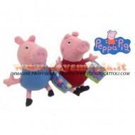 PEPPA PIG E PEPPA PIG GEORGE PELUCHE DA 70 CM CIRCA OFFERTA 2 PEZZI