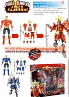 POWER RANGER SUPER SAMURAI CON ARMATURA SHOGUN , OFFERTA 2 PEZZI DIVERSI POWER RANGER SUPERSAMURAI SHOGUN DX COLORE ROSSO , BLU COD NCR 69002