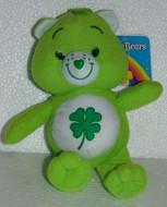 Fortunorso 20cm Orso Soffice Peluche Verde Quadrifoglio Gli orsetti del cuore Care Bears