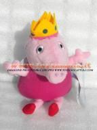 !!!! Peluche Peppa Pig !!!! PUPAZZO PELUCHE PEPPA PIG PERSONAGGIO PEPPA PIG LA PRINCIPESSA PIG  ALTEZZA CIRCA  23 CM COD 345/152 toys , BRINQUEDOS ,JUGUETES , JOUETS , giocattoli !!PEPPA PIG
