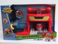 NEW SUPER WINGS Jett, Aereo Robot Personaggio con Hungar per prepararlo al decollo , GIOCATTOLO ORIGINALE GIOCHI PREZIOSI TOYS