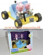 PEPPA PIG E GEORGE PIG SULL' AUTO LUNARE CONFEZIONE CON PERSONAGGI MOON BUGGY